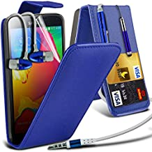 ONX3® Samsung Galaxy S5 Neo Case BookStyle PU Leather Wallet Flip With Credit / Debit Card Slot With LCD Screen Protector Guard, Leather Flip Case Credit / Debit Card, S Line Wave Gel Case Skin Cover, Polishing Cloth & Mini Retractable Stylus Pen