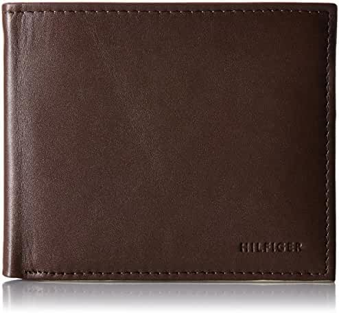 Tommy Hilfiger Men's Donny Genuine Leather Double Billfold Passcase Wallet
