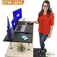 Stand Steady Mega Standing Desk - Stand Up Desk Topper - Instantly Convert Any Surface to a Standing Desk - Easy Assembly No Tools Required! Largest Desk Converter (39.5' x 22') (MSRP: $245)