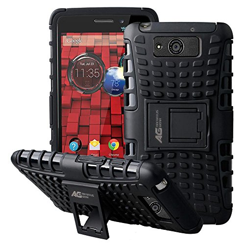 Motorola DROID MAXX / DROID ULTRA XT1080 XT1080M Case - Armatus Gear (TM) Rugged Hybrid Armor Case Cover Protector with Kickstand For Motorola DROID MAXX / DROID ULTRA XT1080 XT1080M - Black/Black