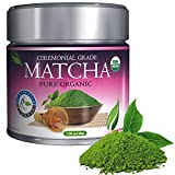 Distinctly Organic Matcha Green Tea - [USDA] Ceremonial Grade Powder - Natural Health Benefits - Free Recipe eBook - 30g [1.06oz]