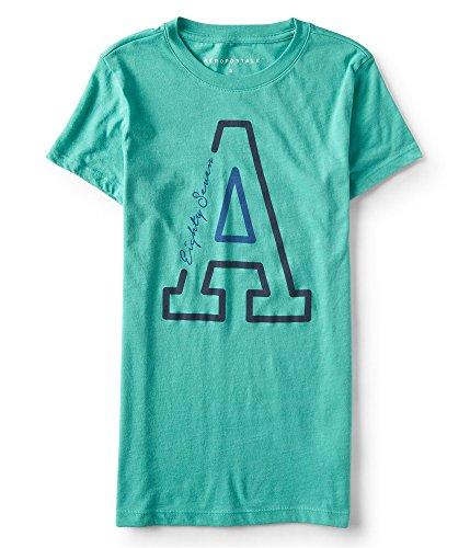 Aeropostale Womens Logo Graphic T-Shirt, Green, ()