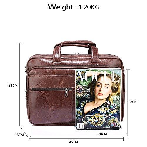 ANNA GRACE - Bolso de tela de piel sintética para mujer Design 1 - Coffee