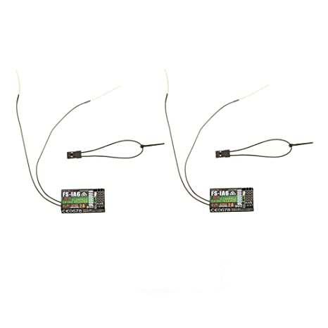 GoolRC 2Pcs 2 4G Flysky FS-iA6 6 Channel Remote Control Receiver with  Double Antenna Compatible Flysky i4 i6 i10 GT2E GT2F GT2G Transmitter