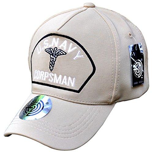 BASSI-CY Unisex Embroidered Baseball Cap Hat US Navy Corpsman Veteran Cap Hat