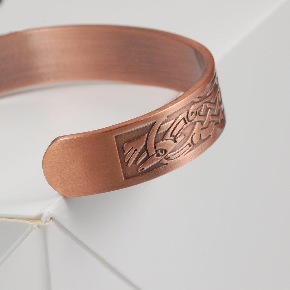 Amazon.com: Wollet Jewelry - Pulseras magnéticas de cobre de ...