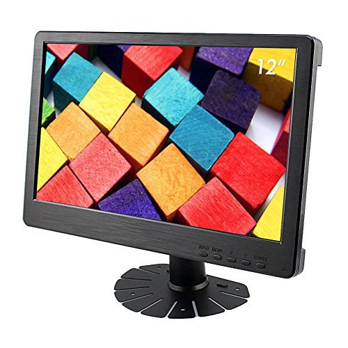 Elecrow 12-Inch 1920X1080 HDMI DVI-D VGA PS3 PS4 WiiU Xbox360 1080P Display Monitor for Raspberry Pi 2B B+ Raspberry Pi 3B Windows 7 8 10 (Ps3 Lcd Monitor)