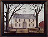 Early American Home by Billy Jacobs 15x19 Americana Country House Primitive Folk Art Print Wall Décor Framed Picture