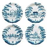 Juliska Country Estate Delft Blue Party Plates Set of Four