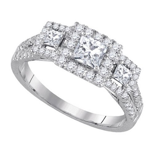 Ladies 1.01CTW DIAMOND 0.40CT-CPR BRIDAL RING GND-92809