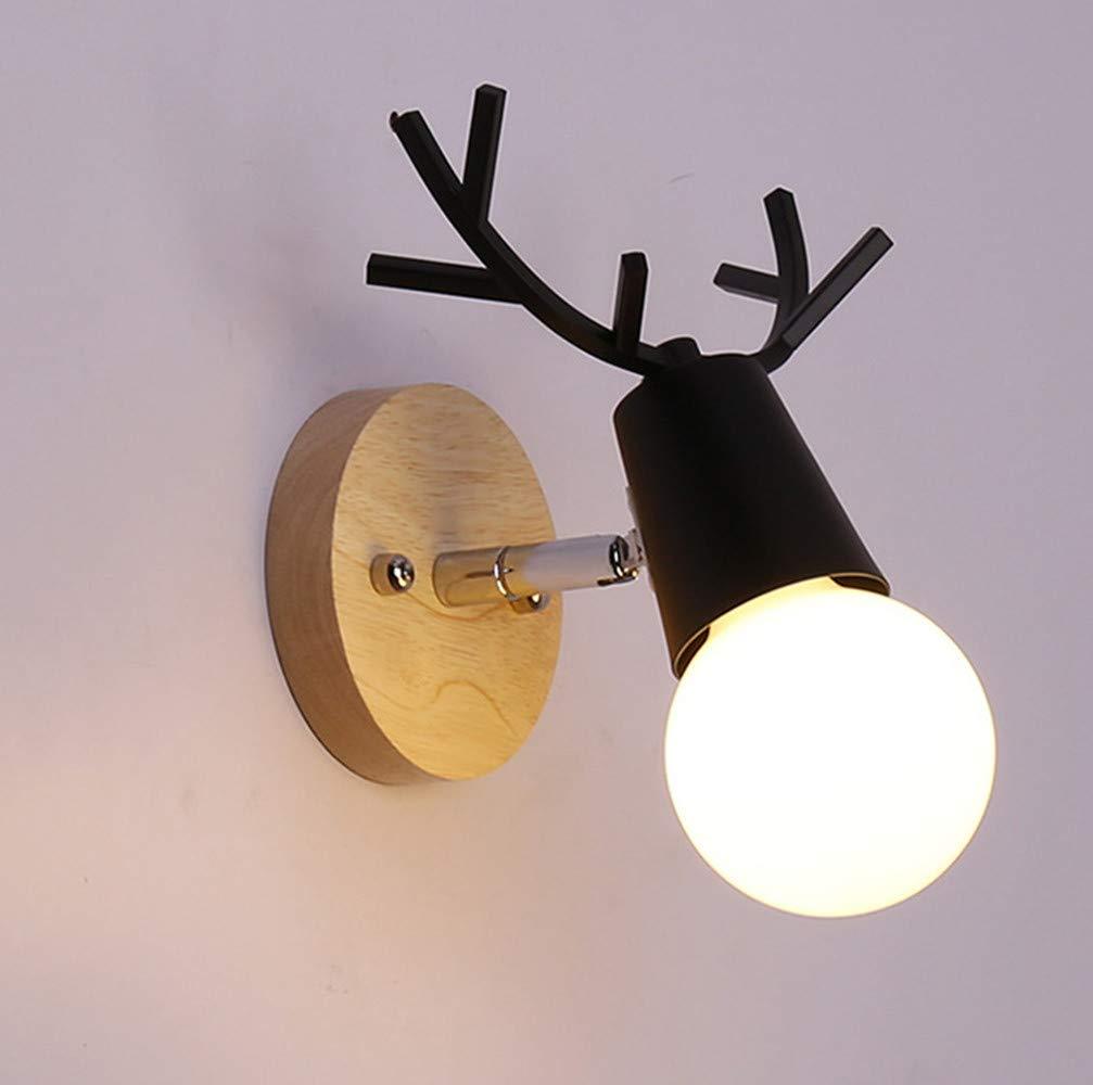 Leoie E11 Iron Wall Lamp Holder Light Case Base Home Villa Hotel