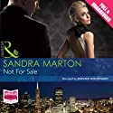 Not for Sale Audiobook by Sandra Marton Narrated by Jennifer Woodward
