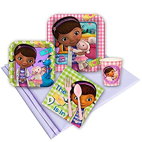 Doc McStuffins Party Kit Including Plates Cups Tablecover and Napkins - 8 Guests by  sc 1 st  Amazon.com & Amazon.com: Doc McStuffins Party Kit Including Plates Cups ...