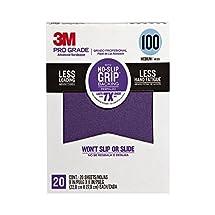 "3M 26100CP-P-G 100 Grit Pro Grade No-Slip Grip Advanced Sandpaper, 9 x 11"""