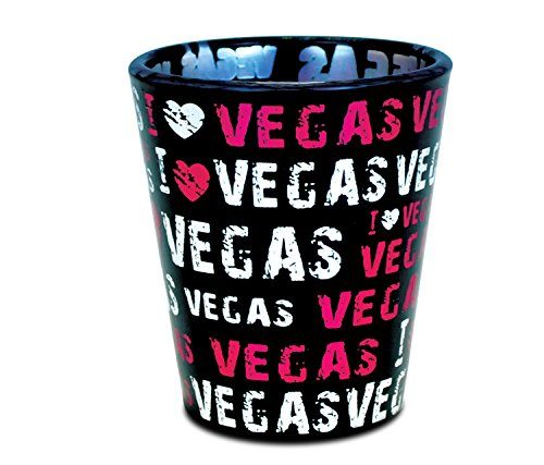 "Puzzled""I Love Las Vegas"" Tequila Cocktail Whisky Vodka Famous Sites Themed Shot Glass Unbreakable Home Bar Tool Party Accessory Drinkware Cute Funny Novelty Glassware Drinking Game Shooter Glasses"