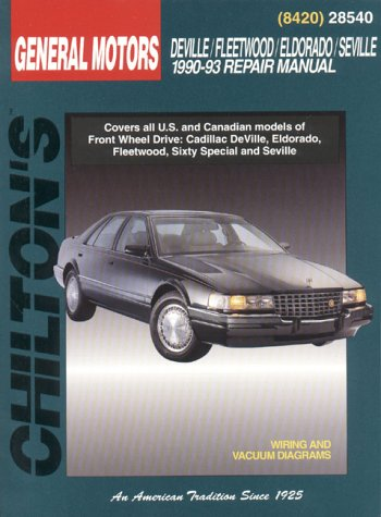 GM DeVille/Fleetwood/Eldorado/Seville 1990-93 (Chilton's Total Car Care Part No 8420)