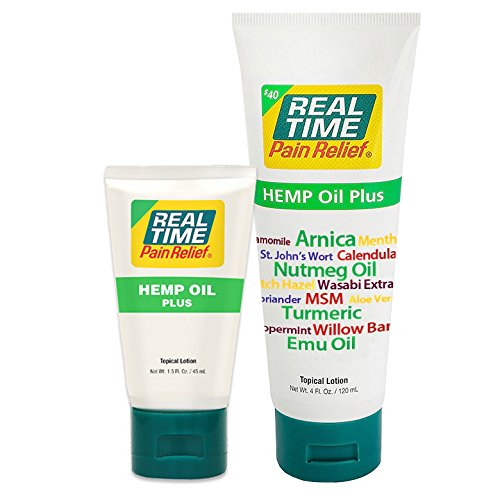 (Real Time Pain Relief Hemp Oil Plus (Combo Pack))