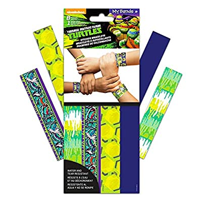 TMNT Teenage Mutant Ninja Turtles Stickers Wristbands Party Favor Pack (Over 300 Stickers): Toys & Games