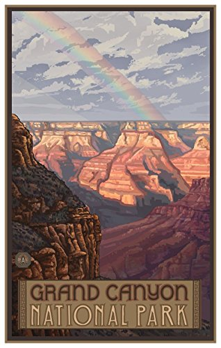 - Grand Canyon National Park Rainbow Travel Art Print Poster by Paul A. Lanquist (12