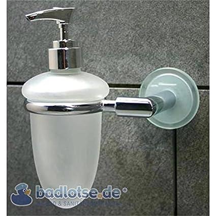 Kairo Cristal dispensador de jabón dispensador de loción Soporte Jabonera de pared jabonera