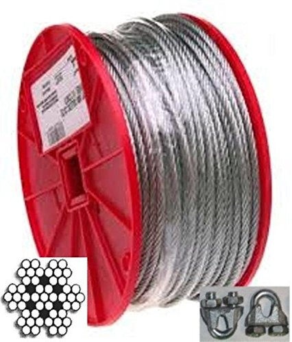 Steel Aircraft Cable 500' 1/8