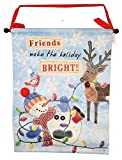 'Friends make the Holiday Bright' Canvas Banner (17 x 23)