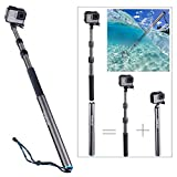 Smatree S3C Carbon Fiber Detachable Extendable Floating Pole for GoPro Hero 6 5 4 3+ 3 2 1 Session