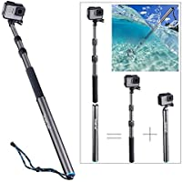 Smatree S3C Carbon Fiber Detachable Extendable Floating Pole for GoPro Hero 6/5/4/3+/3/2/1/Session