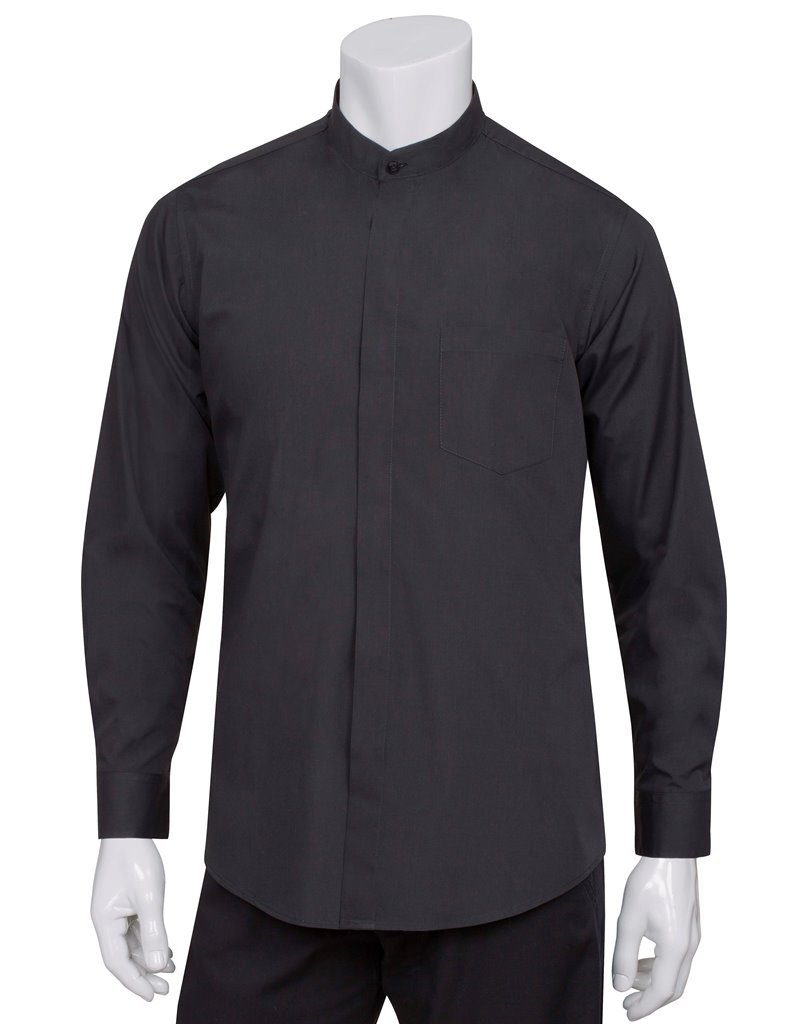 Chef Works Mens Banded Collar Shirt