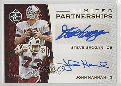 John Hannah Steve Grogan 26 49 Football Card 2016 Panini Limited