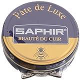 Saphir Shoe Polish Pate de Luxe 50ml Tin - Made in France - Blue Line (Navy Blue)