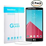 [2 Pack] Innker LG G4 Screen Protector [Tempered Glass] 0.2mm Ballistic Glass Maximum Impact Protection 99.99% Crystal Clear HD Glass for LG G4 [Lifetime Warranty]