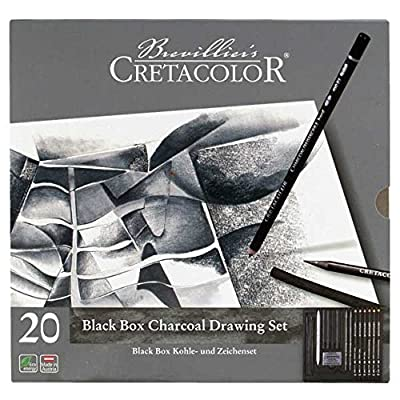 20 Pieces, Graphite & Drawing Charcoal Set