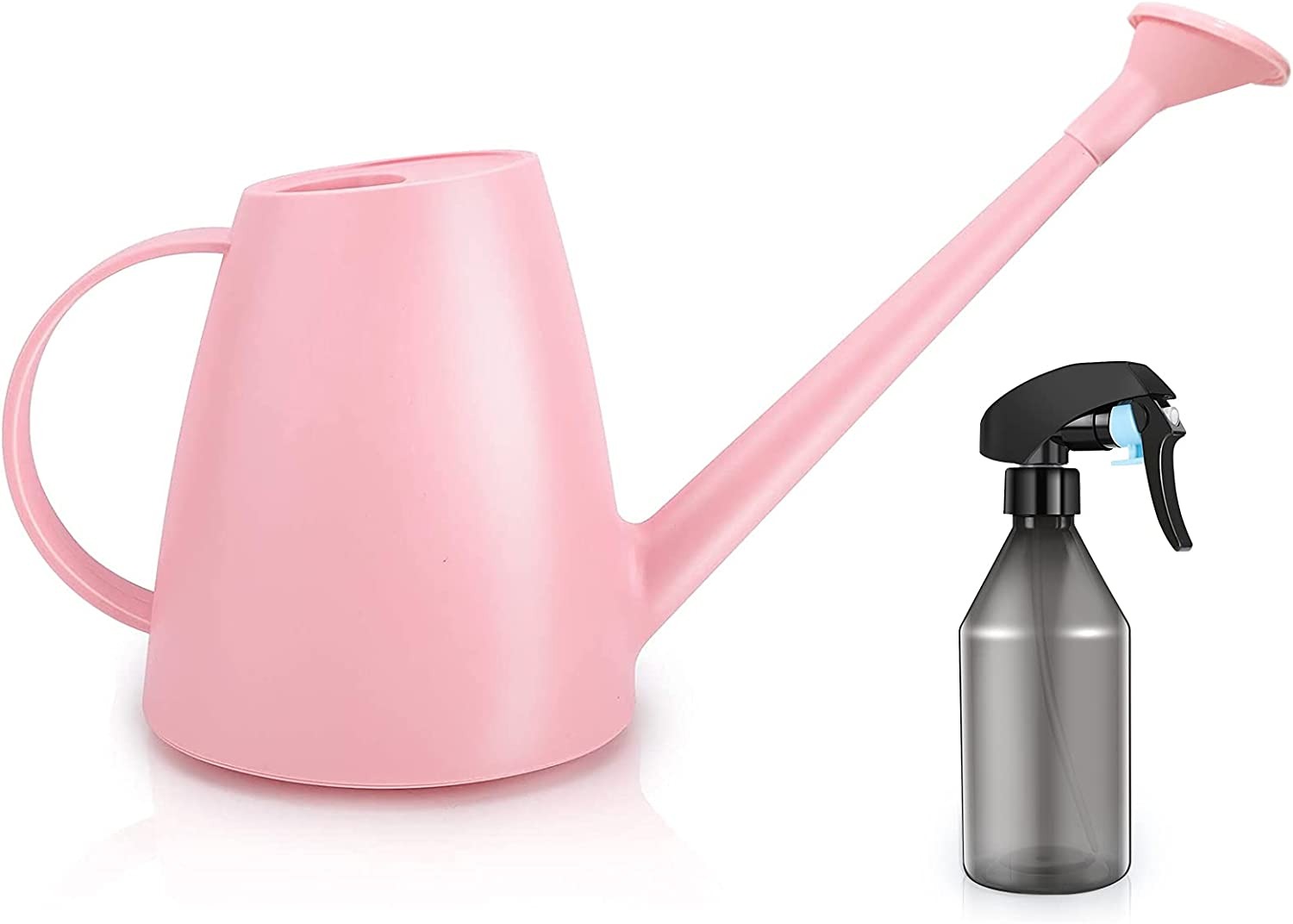 Qilebi Small Watering Can with Sprinkler Head, Indoor Watering Cans with Spray Bottle for Houseplant Garden Flower, Water Can for Outdoor Plants Bonsai Plant Waterer, 0.5 Gallon 60OZ
