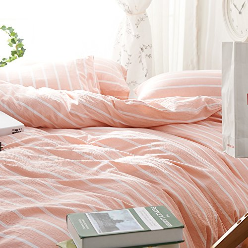 EnjoyBridal Striped Duvet Cover Duvet Cover Sets