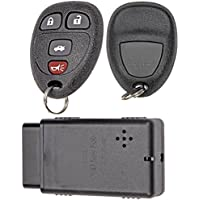 APDTY 112662 Replacement Key-less Entry Remote Key Fob Transmitter Assembly With Do-It-Yourself Programming Tool (Replaces GM Part Number 22733523 Only; You Must Have A Working Keyless Entry System)