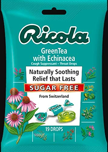 - Ricola Sugar-Free Herb Throat Drops Echinacea Green Tea 19 drops (Pack of 5)