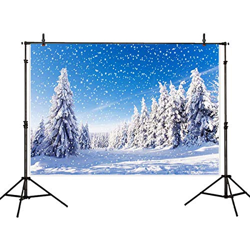 Allenjoy 7x5ft Winter Scenic Photography Backdrop Background Forest Photo Studio Booth Photobooth Prop for Newborn Baby Shower Kids