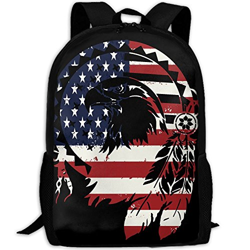 Bald Eagle Unique Outdoor Shoulders Bag Fabric Backpack Multipurpose Daypacks For - Sunglasses Bald Man