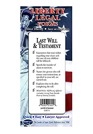 Amazon last will testament forms usa do it yourself last will testament forms usa do it yourself legal forms by solutioingenieria
