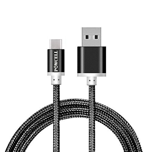 FULL SPEED CHARGER CORD FOR SONY XPERIA XZ XZ2 PREMIUM X Compact XZs L1 XA1 XA2 Ultra NYLON BRAIDED USB SYNC CABLE (Black 3 FT)
