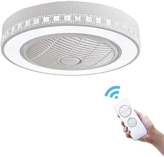 XDDY Ventilador Techo con Luz LED Iluminacion Techo Moderna Y ...