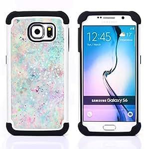 - dots paint splash pastel colors paint - - Doble capa caja de la armadura Defender FOR Samsung Galaxy S6 G9200 RetroCandy
