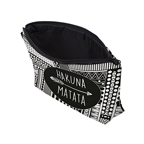 Roomy Cosmetic Bag,3 piece Set Deanfun Waterproof Travel Toiletry Pouch Makeup with Zipper (Hakuna Matata) by Deanfun (Image #6)