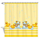 CafePress - Rubber Duckies Yellow - Decorative Fabric Shower Curtain