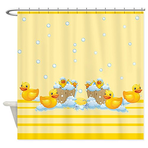CafePress - Rubber Duckies Yellow - Decorative Fabric Shower Curtain (Yellow Duck Shower Curtain compare prices)