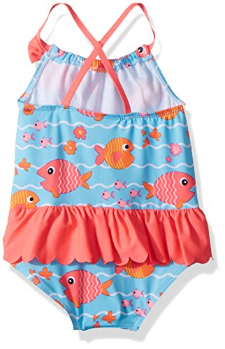 Wippette Toddler Girls' Coverup Set With Fish and Waves, Diva Pink, 3T by Wippette (Image #2)