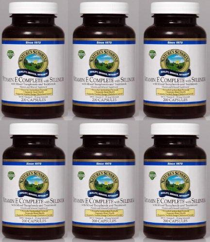 Naturessunshine Витамин Е В комплекте с Селен 400 МЕ Поддержка системы кровообращения 200 мягких капсул (в упаковке 6)