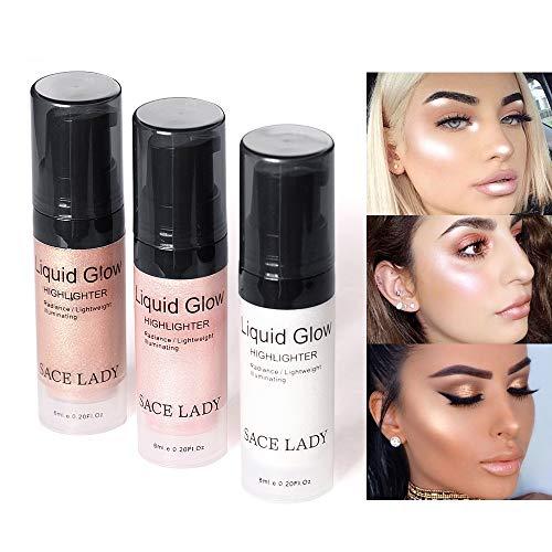 Gesicht Textmarker Highlighter Creme Liquid Illuminator Make-up Schimmer Glow Kit Glitter Concealer Lip Foundation Make-up Gesicht Aufhellen Glanz Kosmetik