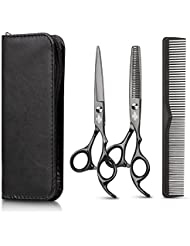 Hair Cutting Scissors Set with Hair Comb, Leather Scissors...